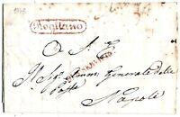 Prefilatelia - Rogliano - Bollo Ovale Rosso  -  per Napoli  nel 1843 - Lettera