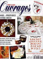 Tous les ouvrages n° 28 de 1997 Revue Magazine broderie-Deco Noël -Lucky Luke