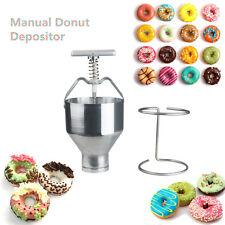 Manual Donut Depositor Dropper Plunger Dough Batter Dispenser Hopper Maker