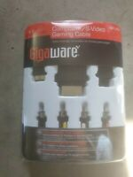 Gigaware Universal Composite Gaming Cable PS3 PS2 Xbox 360 Wii New Sealed d