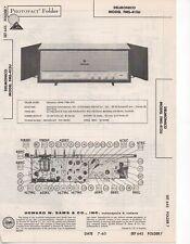 1963 DELMONICO FMS-413U RADIO SERVICE MANUAL PHOTOFACT SCHEMATIC AM FM DIAGRAM