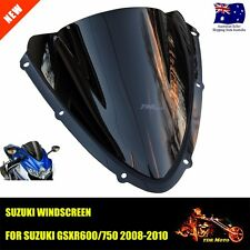 Windshield Motorcycle WindScreen Black For  SUZUKI GSXR 600 750 2008 2009 2010