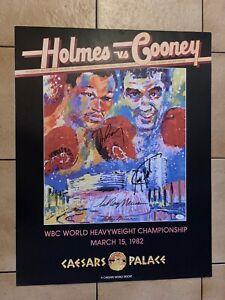 1982 Original Larry Holmes Vs Gerry Cooney Leroy Neiman Signed Boxing Poster JSA