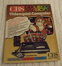COLECO VISION (GERMAN) GAME LEAFLET ONLY * ALL CBS GAMES * NEW- NEVER LOOKED AT