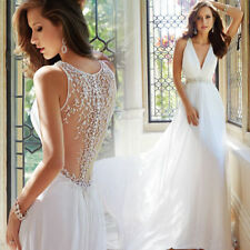 New white/ivory Wedding dress Bridal Gown custom size 6-8-10-12-14-16-18-20+++