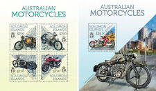 Motorcycles Motorräder Motos Vehicles Transport Solomon Islands MNH stamp set