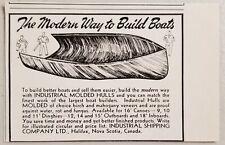 1949 Print Ad Industrial Molded Hulls Boats Halifax, Nova Scotia, Canada