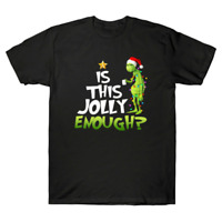 Grinch Is This Jolly Enough Merry Christmas Vacation Funny Graphic Men's T-Shirt