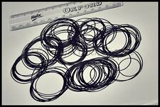 100 x Round Rubber Gaskets / Washers / O Rings / Seals for Watch Backs 32 - 50mm