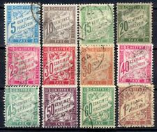 TIMBRES TAXES - 1893 YT 28 à 39 - TIMBRES OBL. / USED