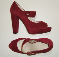 "BEAUTIFUL WITTNER WINTERBERRY SUEDE MARY JANE PEEP TOE HEELS 41 ""VALERIAN"""