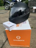 Schuberth C4 Motorcycle Helmet   LARGE / MATTE BLACK With Sc1 Installed