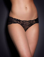 AGENT PROVOCATEUR BLACK LACE LOVE BRIEF SIZE 2 SMALL UK 8-10  BNWT