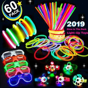 60 Pack LED Light Up Toy Halloween Glow in the Dark Party Supplies