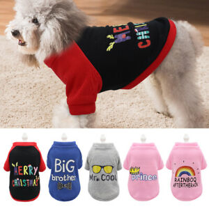 Pet Clothes for Small Dogs French Bulldog Cat Puppy Coat Jumper Sweatshirt Vest