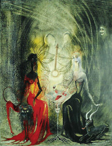 LEONORA CARRINGTON Witches Play Beaker (50x38.5), CANVAS, POSTER FREE P&P