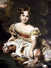 Miss Peel - Sir Thomas Lawrence - Hand Colored (Restrike Engraving) by W. Ward