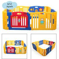 8/12 Panels Baby Playpen Kids Safety Fence Play Center PlayYard Kids Bbay pen