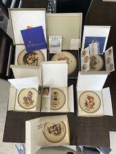 Rare! Lot of (7) Vintage Goebel M.J. Hummel Annual Plates Original Boxes Germany