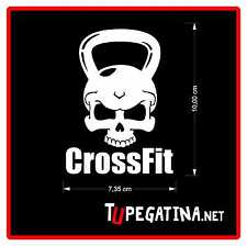 1X STICKERS DECAL ADHESIVE PEGATINA CROSSFIT SKULL
