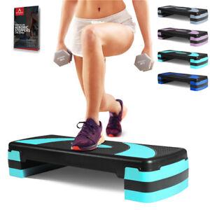 arteesol Aerobic Steppbrett 3 Stufen Verstellbar Grün Stepper Fitness Step Bench