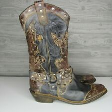 BED|STU RUBIC LEATHER WESTERN STUDDED COWBOY COWGIRL BOOTS US 9.5