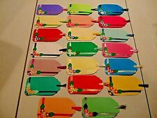 Lot of 20 Large Handmade Embellished Scrapbooking Tags - Primary Colors #72- New