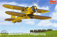 Roden 446 - Beechcraft D17S US Airplane - 1/48 scale model airplane kit 169 mm