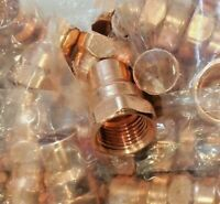 """1//2/"""" Copper Drop Ear Silicon Bronze 90 Degree Elbow CCDE9LFD x5"""