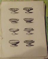 1883 Antica Incisione. Pacchetto Singolo Pasticceri Piccoli Prese Zucchero