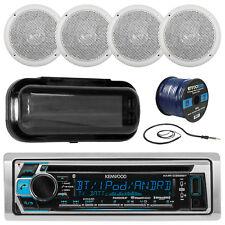 "Kenwood Marine Bluetooth CD Radio, Antenna,Radio Cover,5"" Speakers, Speaker Wire"
