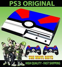 PLAYSTATION PS3 original AUTOCOLLANT SUPER POKEBALL POKEMON Go Skin & 2 Pad