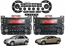 Replacement Radio Button Decals For 2004-2010 Chevrolet Pontiac New Free Ship