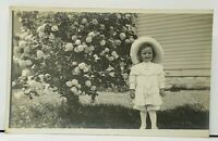 Adorable Well Dressed Victorian Child Photo in The Garden RPPC 1912 Postcard H13