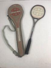 Jahangir Khan Squash Racket Racquet 1985 Unsquashable Silhouette 2 in case.
