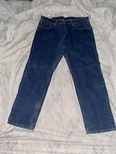 Levis Men Blue Jeans 505 Size 36x29