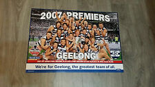 AFL 2007 GEELONG CATS GRAND FINAL PREMIERSHIP PREMIERS PRINT POSTER