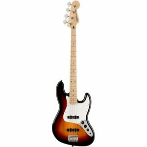 Fender Squier Affinity Series Jazz Bass Guitar, 3 Colour Sunburst