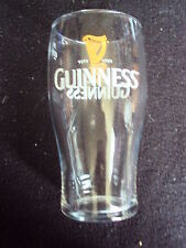 RARE! OFFICIAL GUINNESS PINT GLASS GOLD HARP DESIGN MINT UNUSED FREE UK P&P