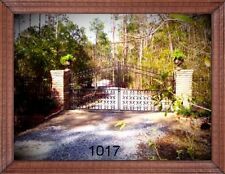 Custom Built Driveway Entry Gate 12ft Wide Double Swing. Fencing, Handrails Bed