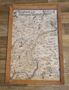 Very rare vintage Diagram of Abersoch District map tourist Souvenir? North Wales