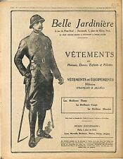 Réclame Pub Belle Jardinière Vêtements Equipements Militaires Alliés  1917 WWI