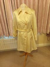 Vintage Designer Cream Silk Feel Coat Dejac 36 Summer Trenchcoat Wedding?