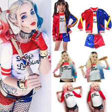 DONNA RAGAZZA Harley Quinn Harlequin SUICIDE SQUAD Halloween Party Costume Set