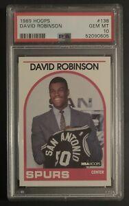 1989 David Robinson NBA Hoops #138 RC PSA 10 Gem Mint!!!