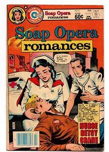 SOAP OPERA ROMANCES # 1 CHARLTON COMICS JULY 1982 LOW PRINT RUN GGA NURSE BETSY