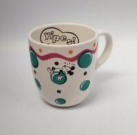 Pfaltzgraff Ceramic Mickey Mouse Yipes Mug Cup Bubbles coffee tea Disney