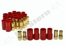 6mm Goldstecker Stecker mit Gehäuse - Hülse 10set hxt 6mm - neu