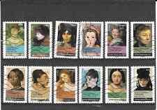 FRANCE 2012.PORTRAITS DE FEMMES.SERIE COMPLETE DE 12 TIMBRES AA OBLITERE
