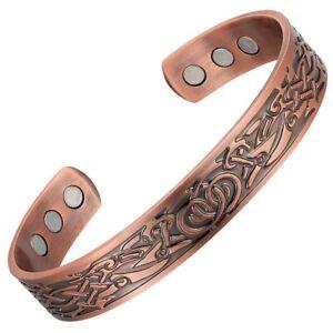Viking Celtic Pure Copper Magenergy 6 Magnets Health Arthritis Vintage Bracelet